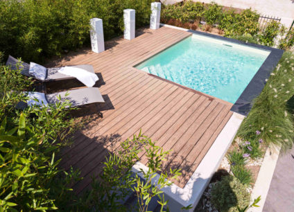 Construction d'une piscine avec panneaux semi-industriels