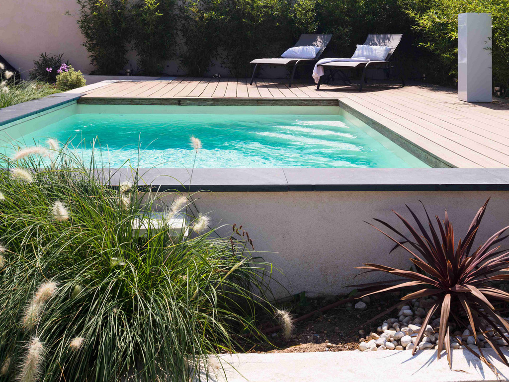 Remplacement liner piscine blanc
