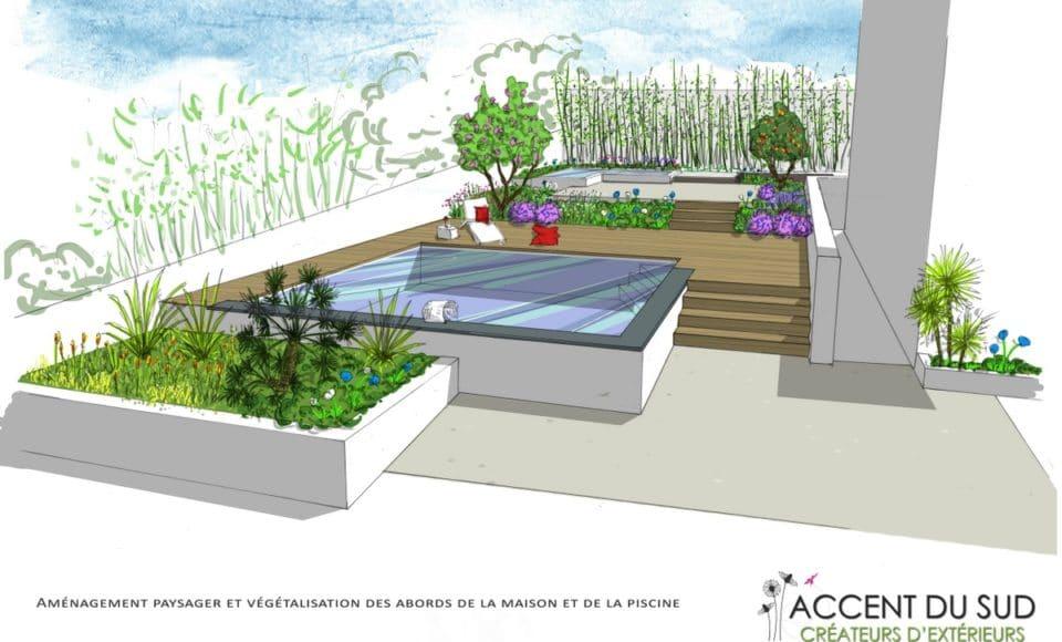 Aménagement espace vert Accent du Sud créateurs d'extérieurs