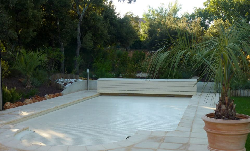 Hivernage piscine montage volet roulant piscine