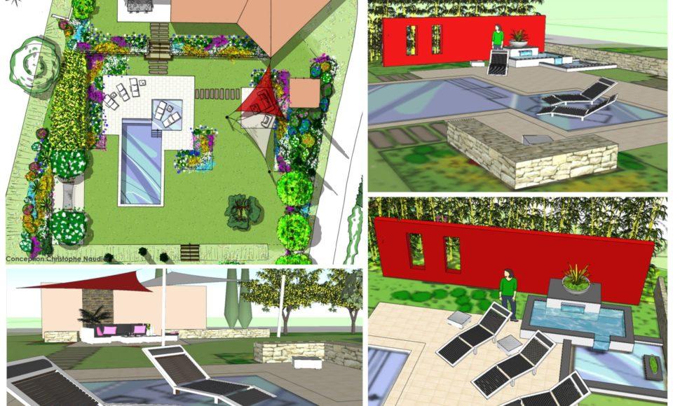 Conception et aménagement extérieur de jardin