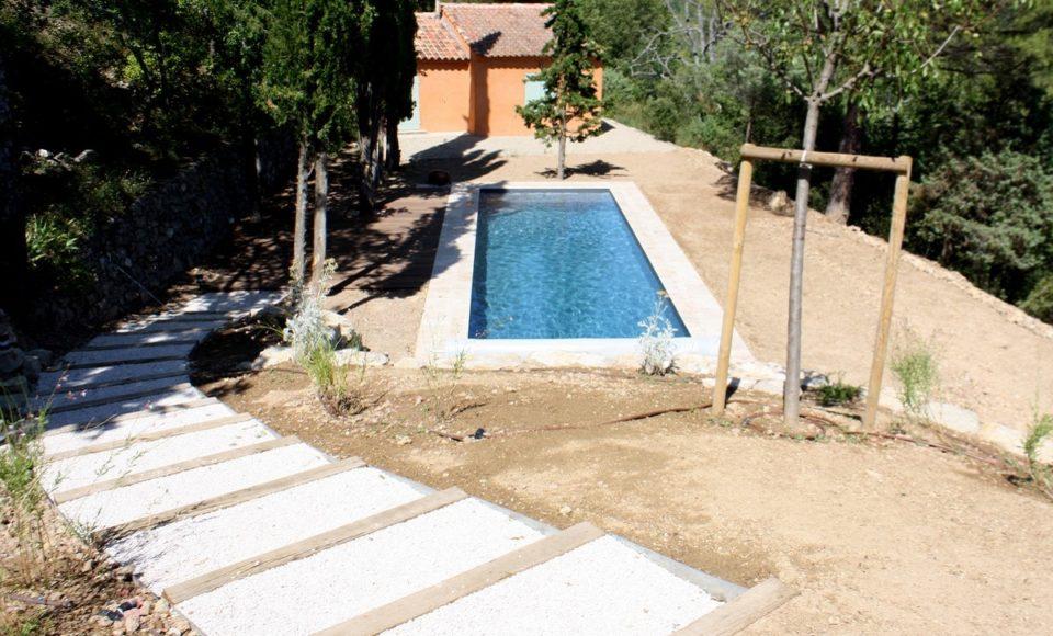 Remplacement liner piscine couloir de nage