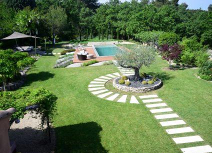 Aménagement jardin paysager