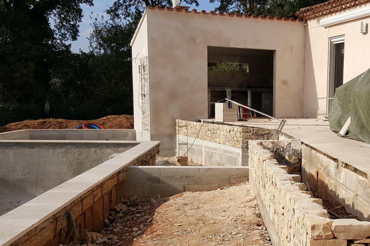 Construire Un Pool House construction d'un pool house et aménagement extérieur