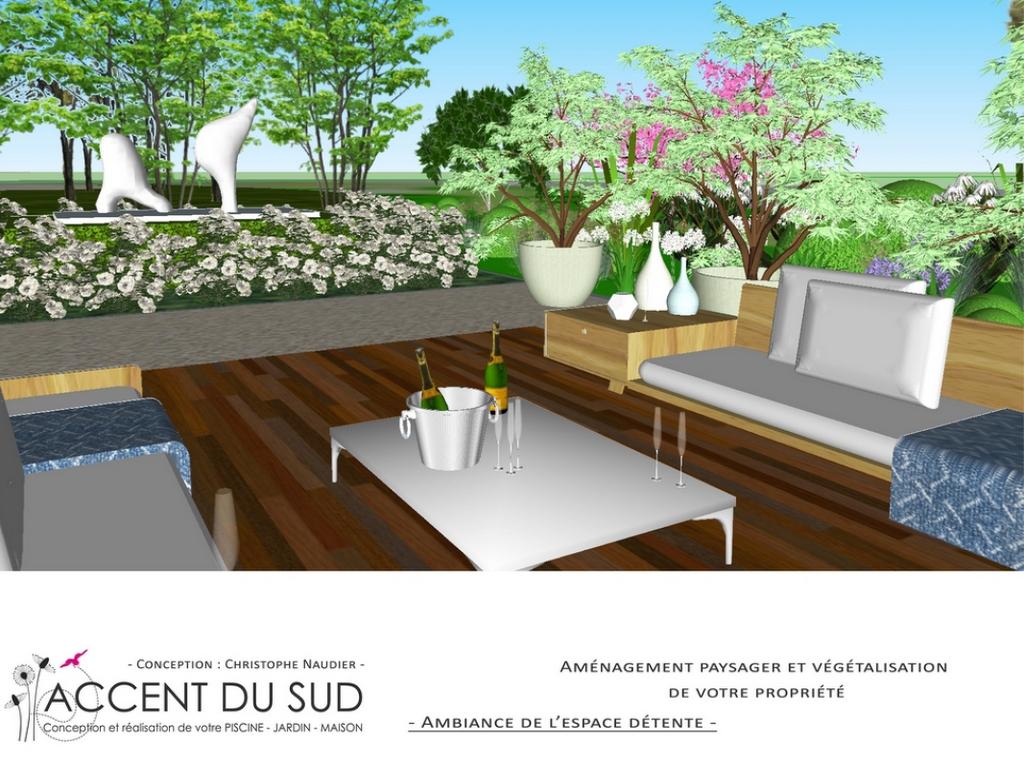 Conception d'un jardin avec un espace détente et bien-être