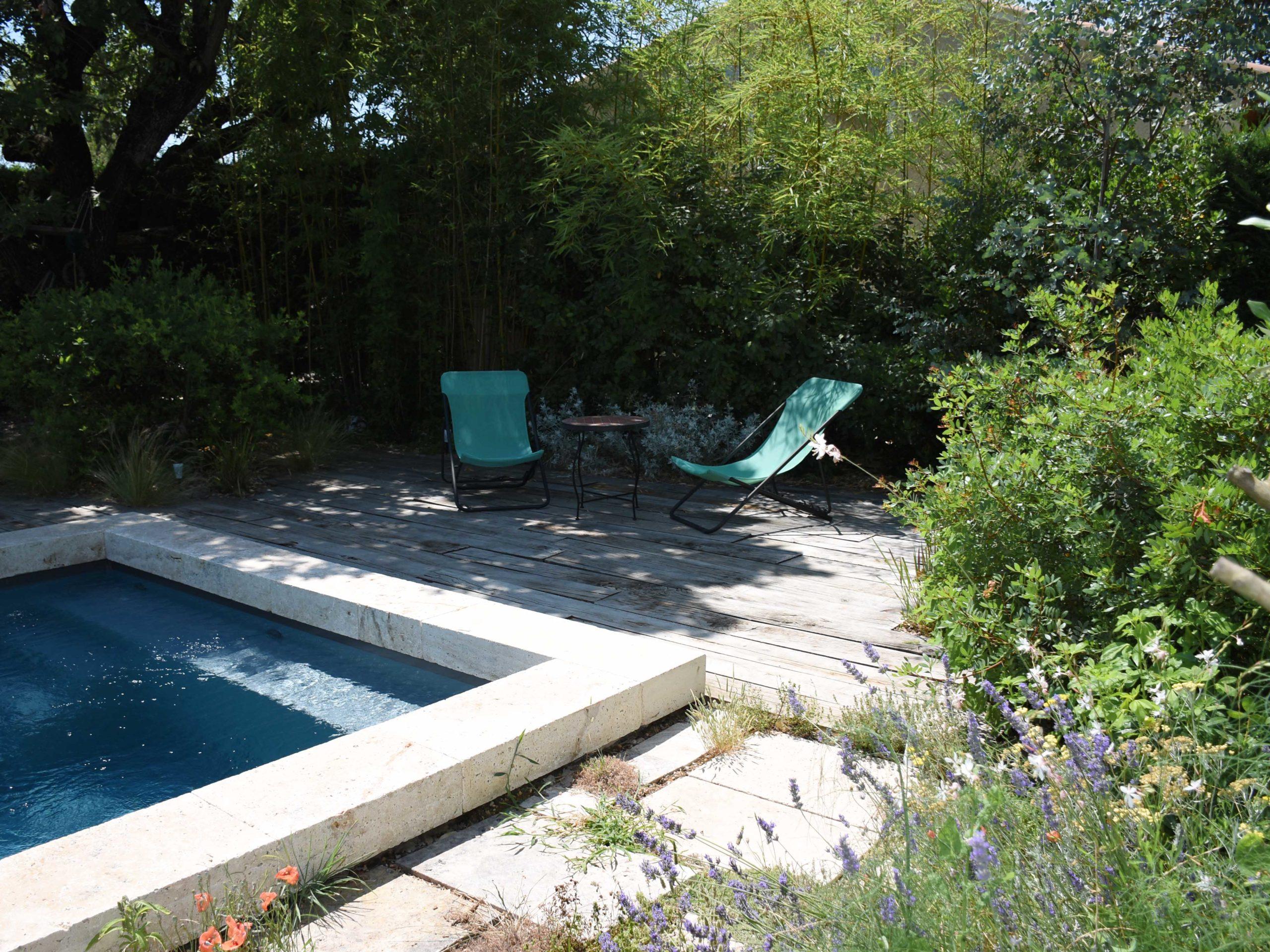 Création jardin contemporain avec terrasse