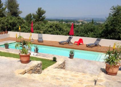 Création de jardin extérieur béton décoratif terrasse