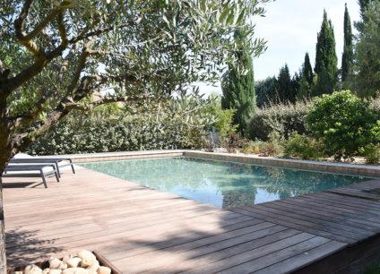 Rénovation piscine terrasse en bois
