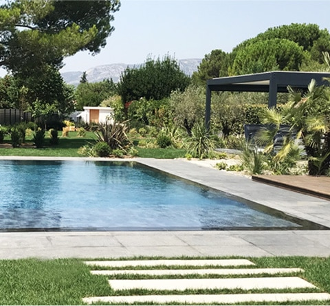 piscine jardin images et photos